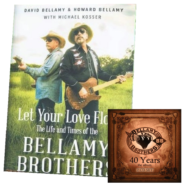 Bellamy Brothers AUTOGRAPHED Book and CD Bundle